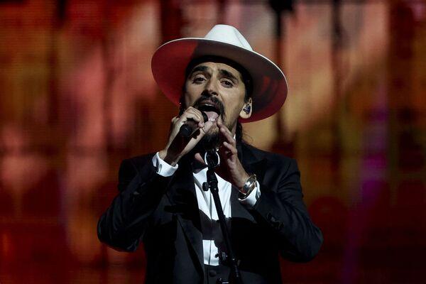 Il gruppo musicale di Portogallo The Black Mamba si esibisce durante la finale della 65a edizione dell'Eurovision Song Contest 2021, all'Ahoy Arena di Rotterdam, 22 maggio 2021 - Sputnik Italia