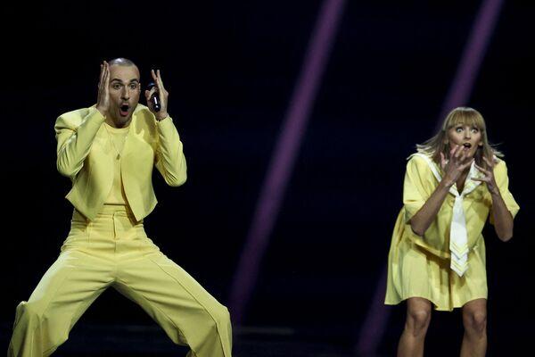 L'esibizione della banda musicale lituana The Roop durante la finale della 65a edizione dell'Eurovision Song Contest 2021, all'Ahoy Arena di Rotterdam, 22 maggio 2021 - Sputnik Italia