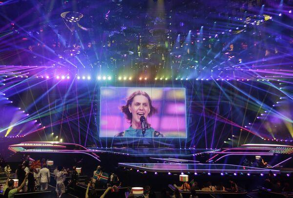 Daði og Gagnamagnið, gruppo musicale islandese, si esibisce durante la finale della 65a edizione dell'Eurovision Song Contest 2021, all'Ahoy Arena di Rotterdam, 22 maggio 2021 - Sputnik Italia