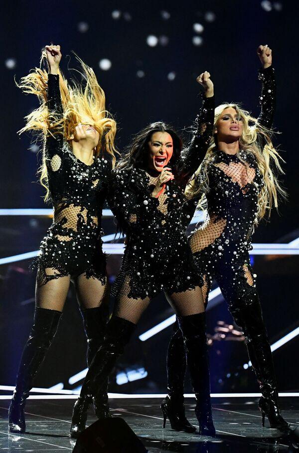 Hurricane, gruppo musicale serbo, si esibisce  durante la finale della 65a edizione dell'Eurovision Song Contest 2021, all'Ahoy Arena di Rotterdam, 22 maggio 2021 - Sputnik Italia