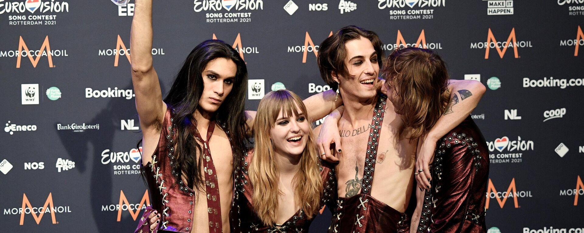 I Maneskin festeggiano la vittoria dell'Eurovision - Sputnik Italia, 1920, 25.05.2021