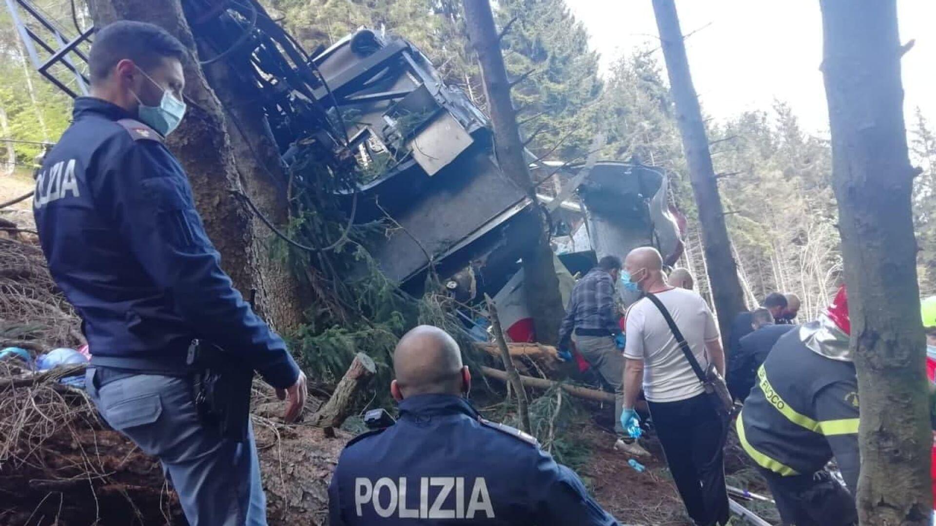 Piemonte, precipita cabina della funivia Stresa-Mottarone - Sputnik Italia, 1920, 23.09.2021