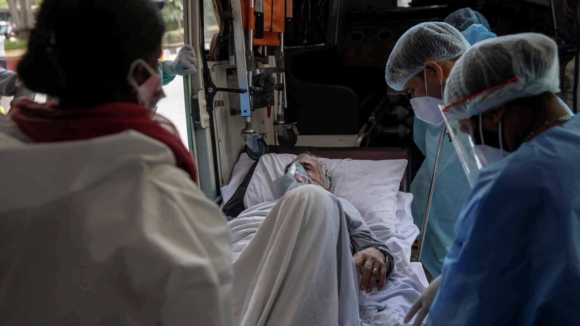 Paziente Covid in un ospedale in India - Sputnik Italia, 1920, 24.05.2021