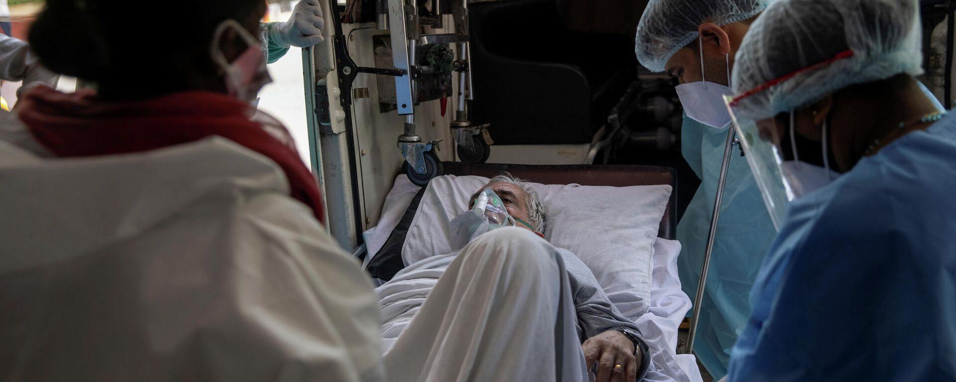 Paziente Covid in un ospedale in India - Sputnik Italia, 1920, 27.05.2021