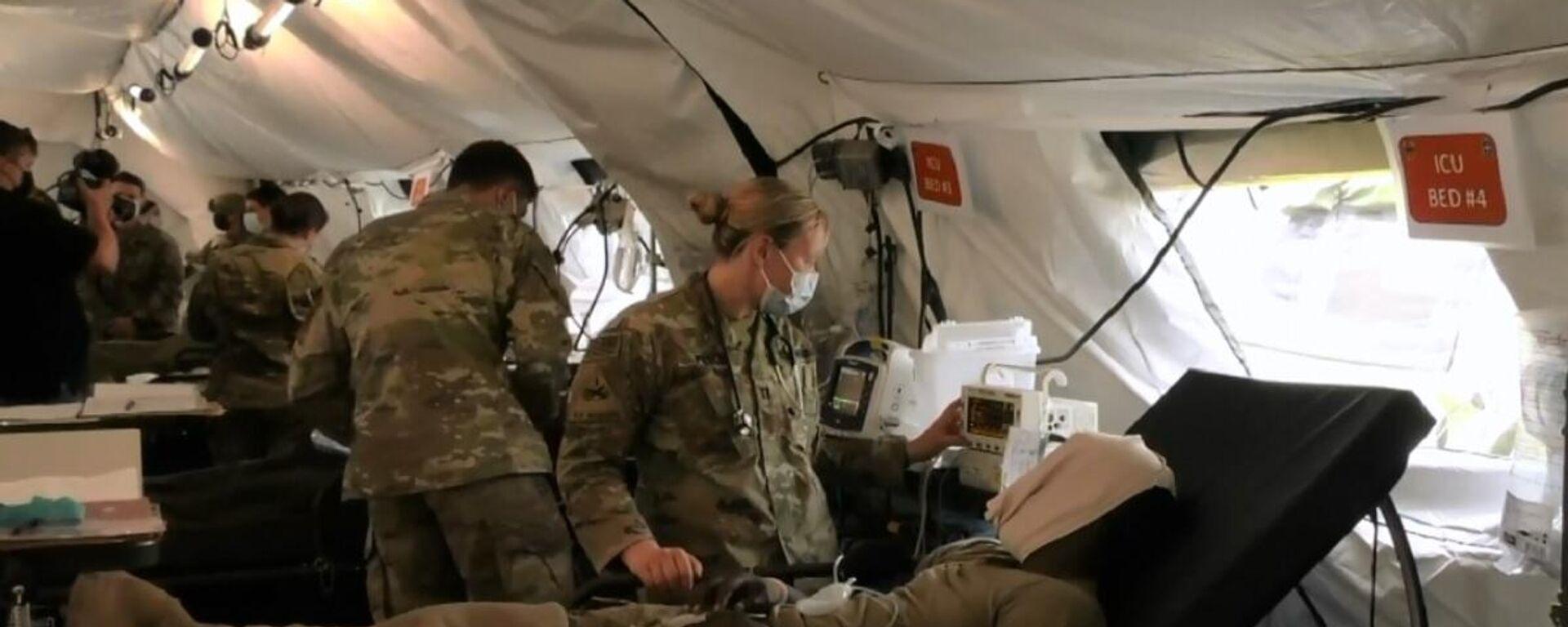 Evacuazione medica come parte delle esercitazioni Defender Europe 2021, Germania - Sputnik Italia, 1920, 04.06.2021