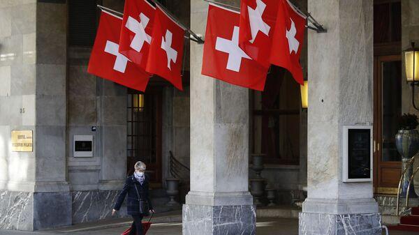Государственные флаги Швейцарии в Берне - Sputnik Italia