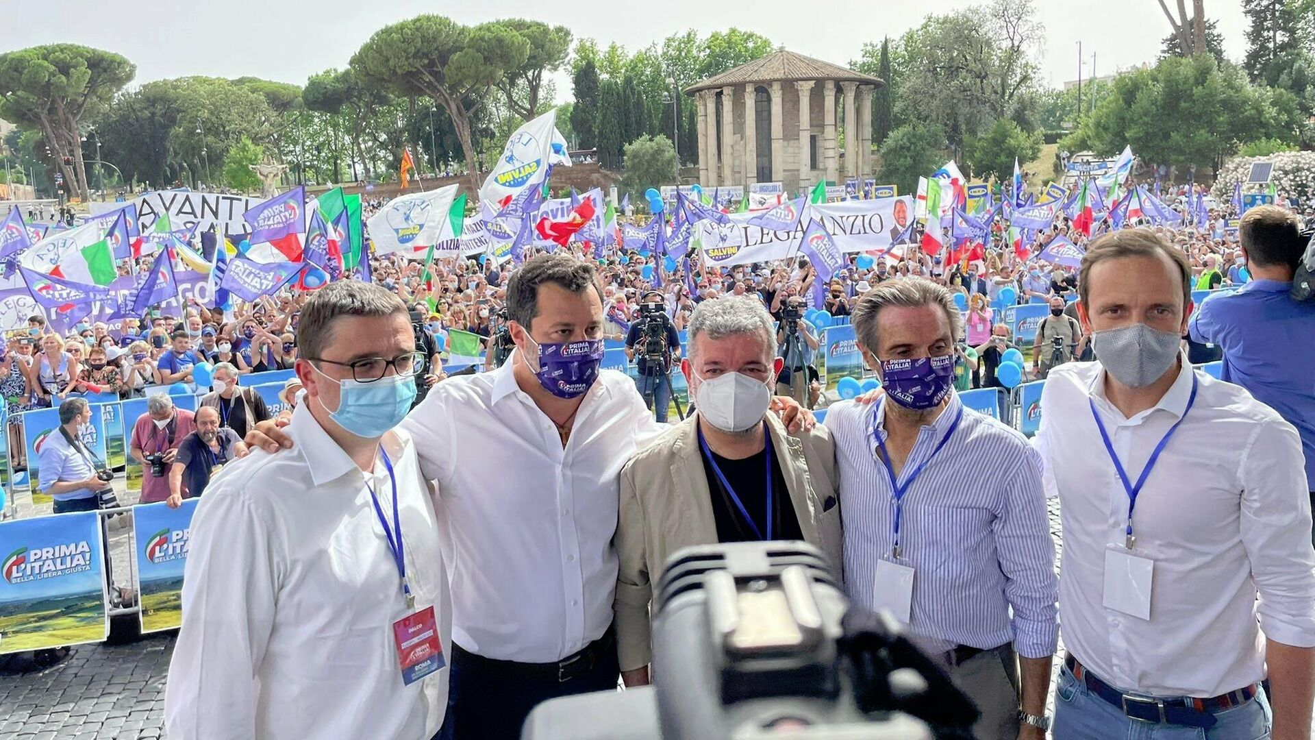 Matteo Salvini e i governatori della Lega - Sputnik Italia, 1920, 11.07.2021