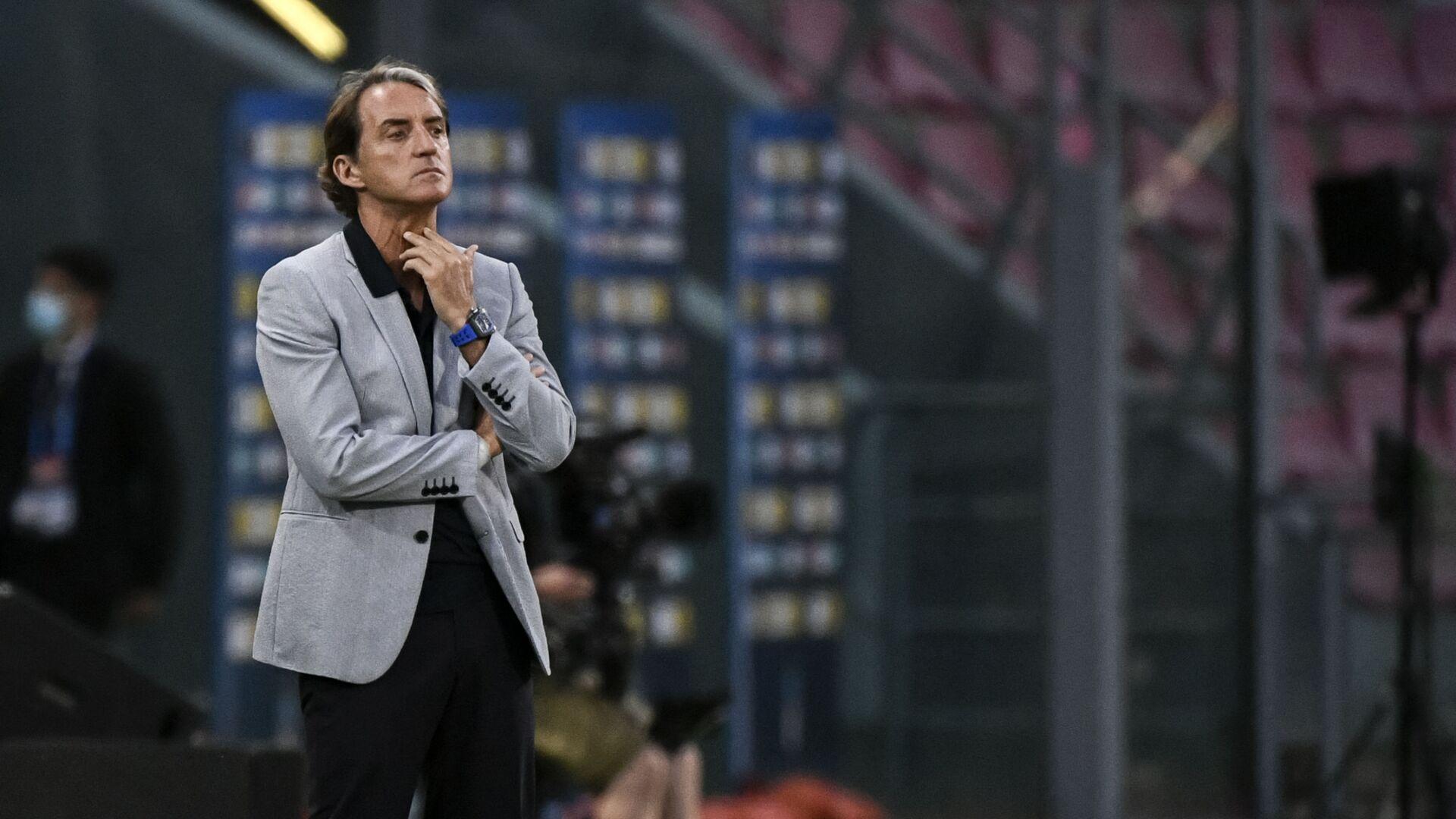 Тренер сборной Италии по футболу Роберто Манчини - Sputnik Italia, 1920, 02.07.2021