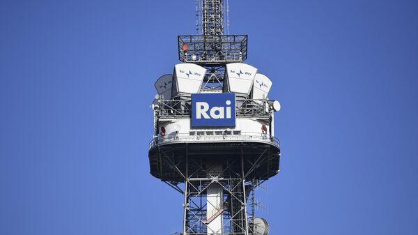 Телебашня с логотипом телекомпании RAI в Милане - Sputnik Italia