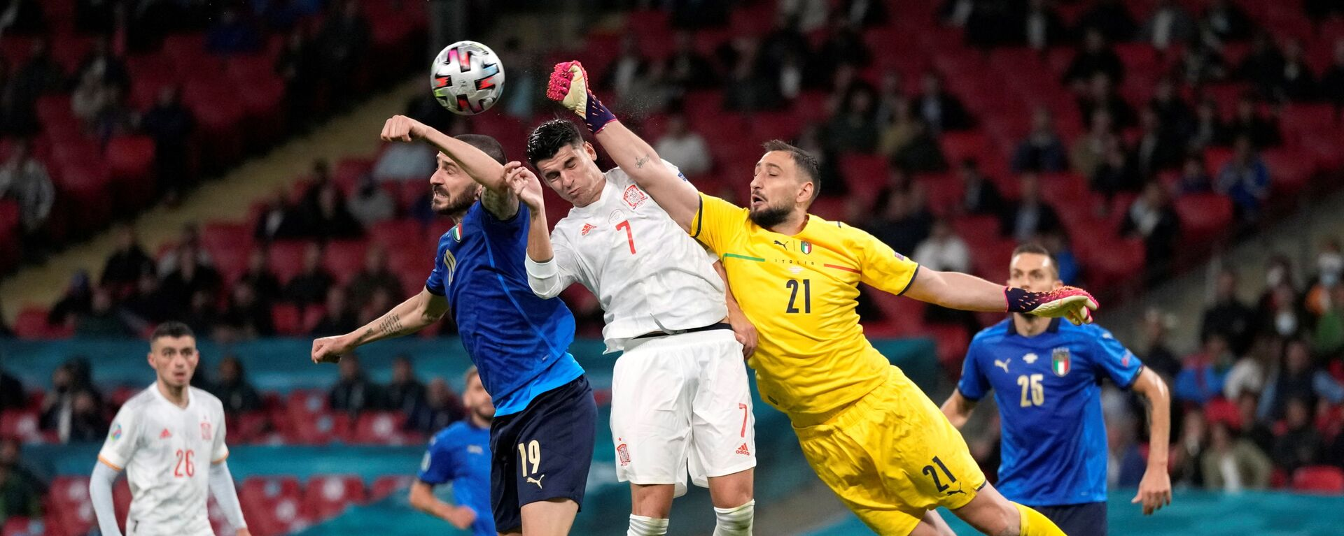 Матч сборных Италии и Испании на Евро-2020 - Sputnik Italia, 1920, 07.07.2021