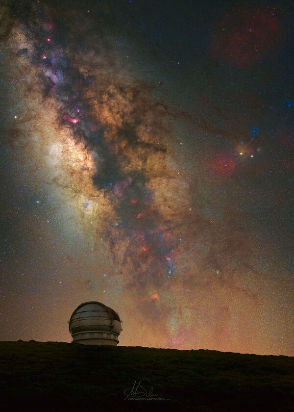 """La foto """"GranTeCan"""" del fotografo Antonio Solano, che è diventata una delle vincitrici del concorso fotografico """"Milky Way Photographer of the Year"""", la foto scattata presso La Palma, Isole Canarie, Spagna - Sputnik Italia"""
