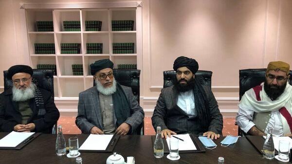 Делегация талибов на переговорах в Москве - Sputnik Italia