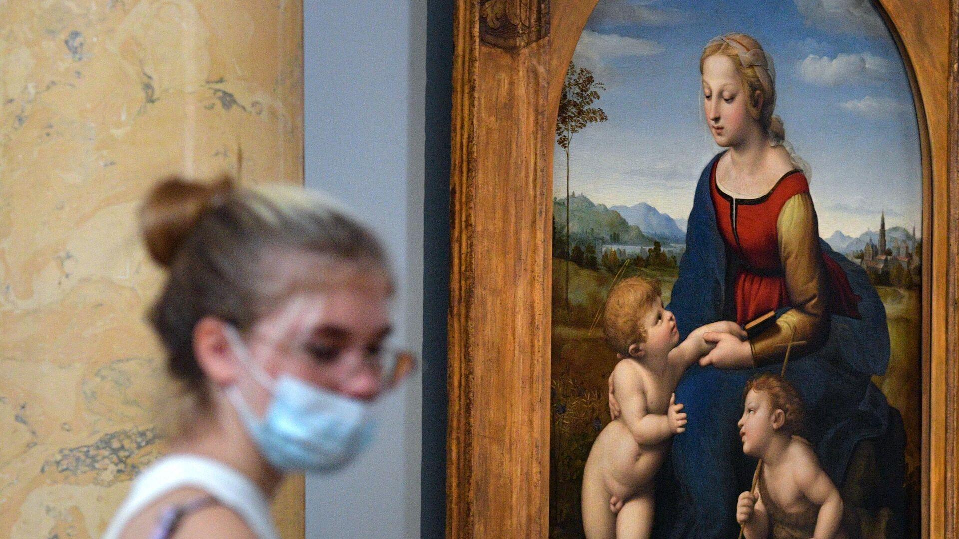 La Madonna con bambino e San Giovannino di Raffaello al museo Ermitazh di San Pietroburgo - Sputnik Italia, 1920, 23.07.2021