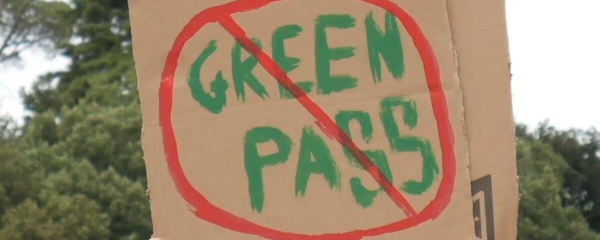Protesta anti Green Pass a Roma - Sputnik Italia, 1920, 25.07.2021