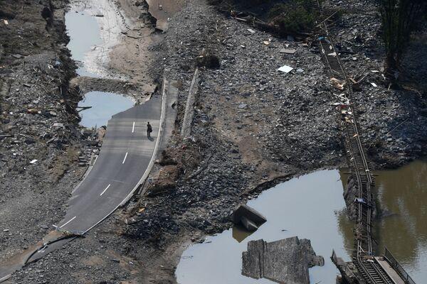 Le inondazioni mortali nella Germania occidentale hanno provocato conseguenze nefaste ad Ahrweiler nella Renania-Palatinato. - Sputnik Italia