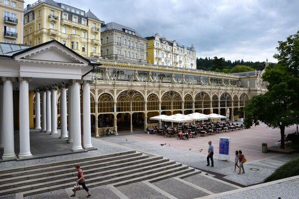 Il colonnato principale di Mariánské Lázně. - Sputnik Italia