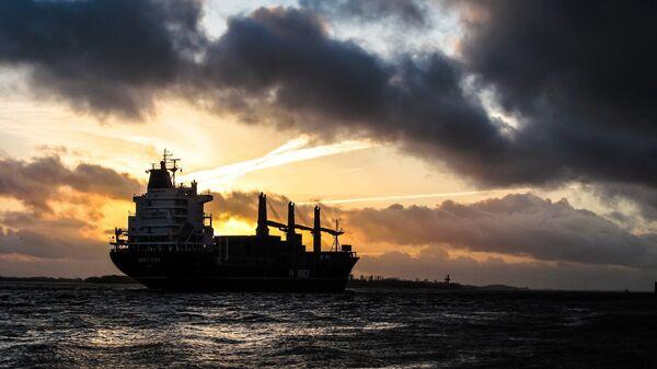 Un buque en el mar (imagen referencial) - Sputnik Italia