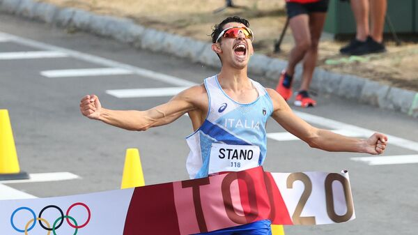 Итальянский спортсмен Массимо Стано на ОИ в Токио - Sputnik Italia