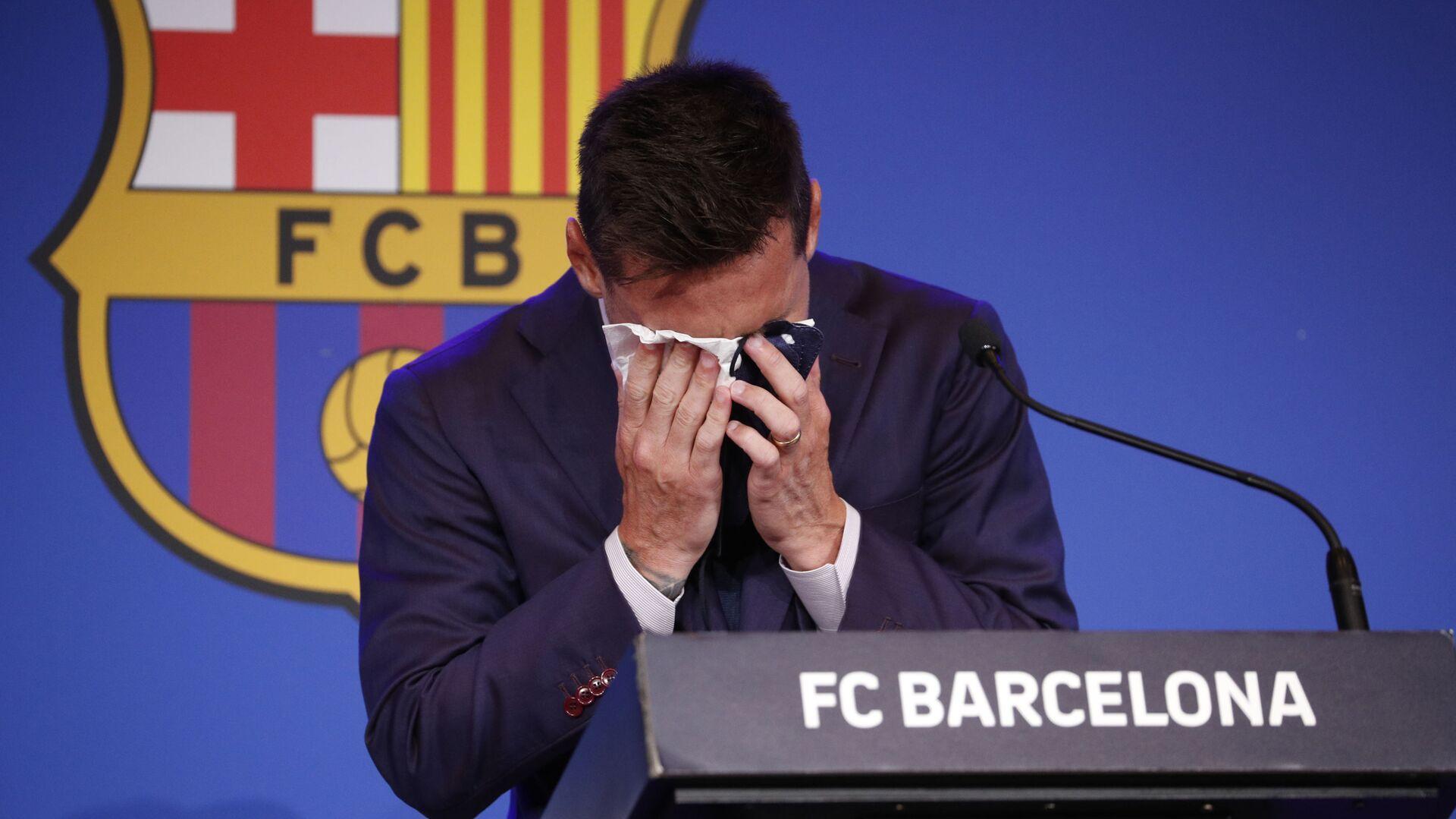 Lionel Messi durante una conferenza stampa - Sputnik Italia, 1920, 08.08.2021