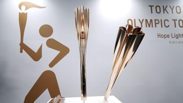 Показ факелов Олимпиады-2020 и Паралимпийских игр в Токио - Sputnik Italia