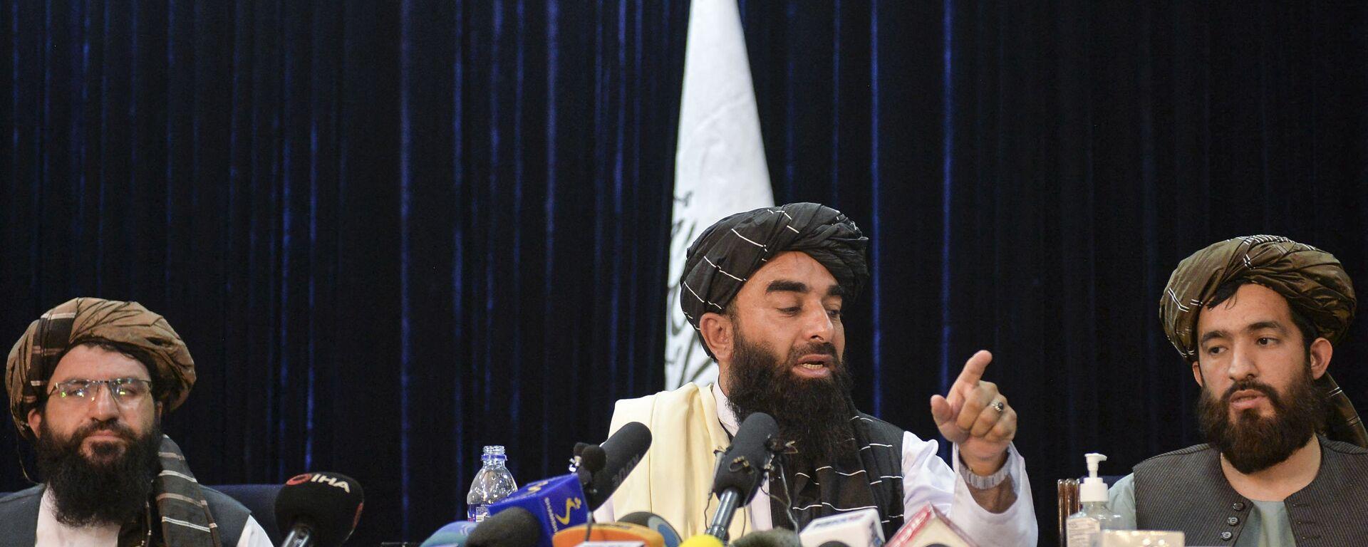 Il portavoce dei talebani, Zabihullah Mujahid - Sputnik Italia, 1920, 15.09.2021