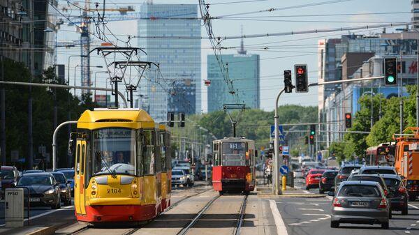 Движение трамваев на улице Маршалковской в Варшаве - Sputnik Italia