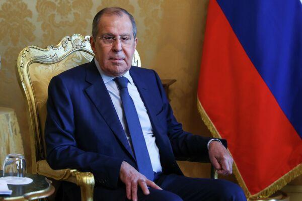 Lavrov ha lasciato Palazzo Chigi dopo aver incontrato il premier Mario Draghi. - Sputnik Italia