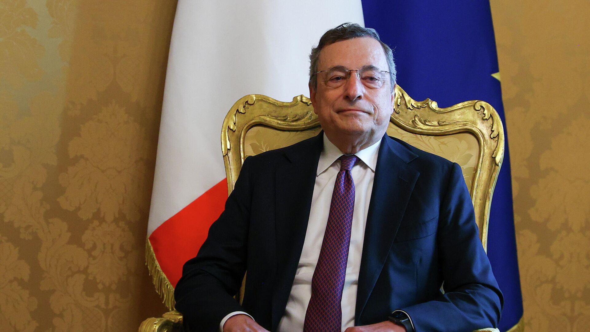 Il Presidente Mario Draghi ha incontrato il Ministro degli Affari Esteri della Federazione Russa, Sergey Lavrov, a Palazzo Chigi - Sputnik Italia, 1920, 24.09.2021