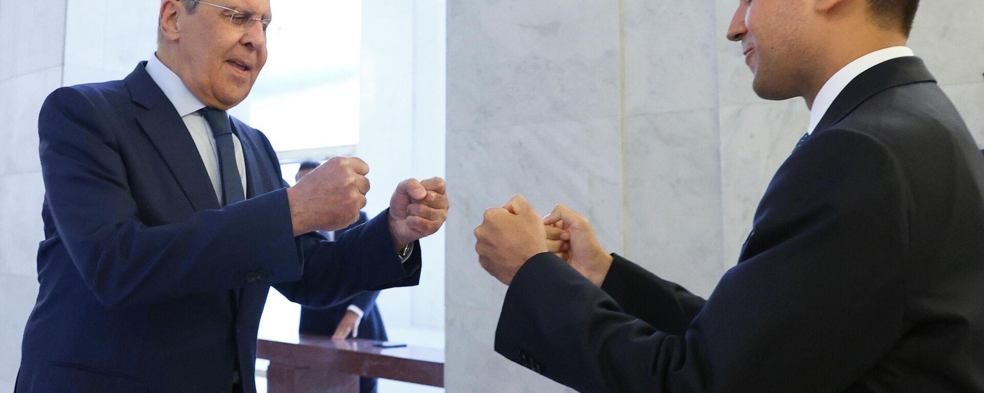Incontro del Ministro degli Affari Esteri e della Cooperazione Internazionale Luigi Di Maio con il suo omologo russo Sergey Lavrov. - Sputnik Italia, 1920, 07.09.2021