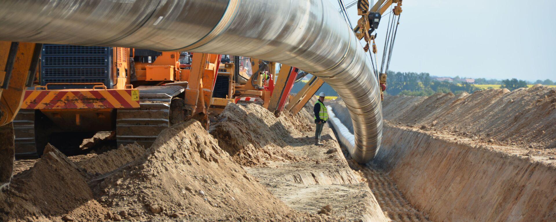Строительство газопровода Северный поток-2 в Германии - Sputnik Italia, 1920, 22.09.2021