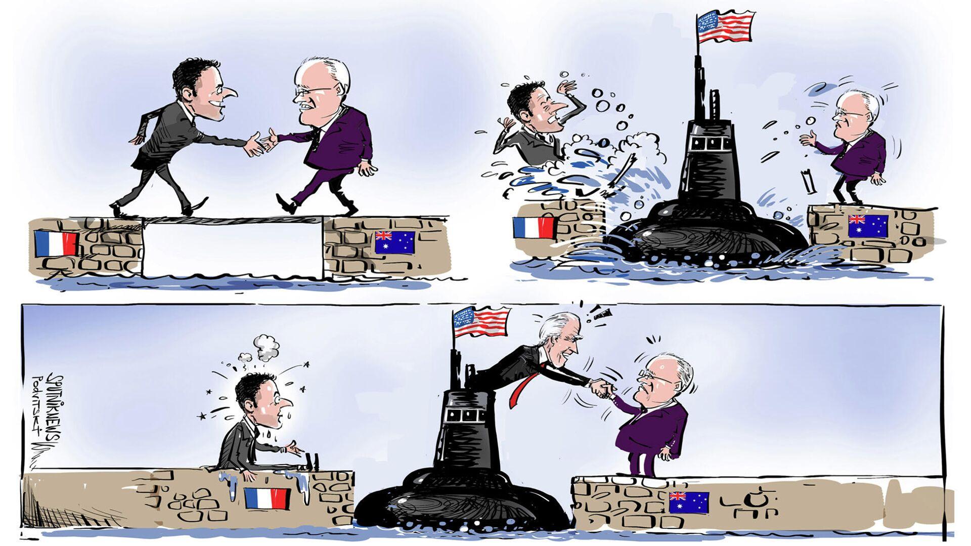 Aukus fa arrabbiare la Francia  - Sputnik Italia, 1920, 17.09.2021