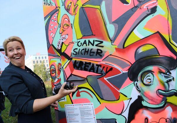 Franziska Giffey, candidata principale del Partito socialdemocratico tedesco per le elezioni statali di Berlino. - Sputnik Italia