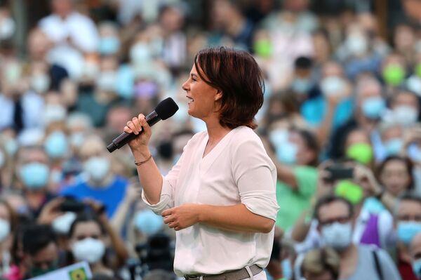 Co-presidente e candidata a cancelliera del partito ambientalista Alleanza 90/I Verdi, Annalena Baerbock, a Francoforte, Germania - 8 settembre 2021. - Sputnik Italia