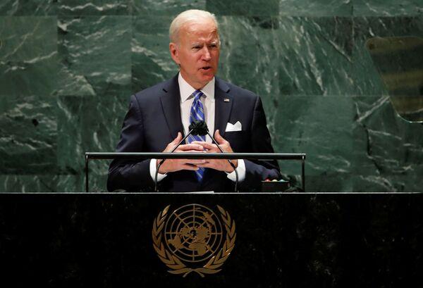 Il presidente statunitense Joe Biden alla 76° sessione annuale dell'Assemblea generale delle Nazioni Unite. - Sputnik Italia