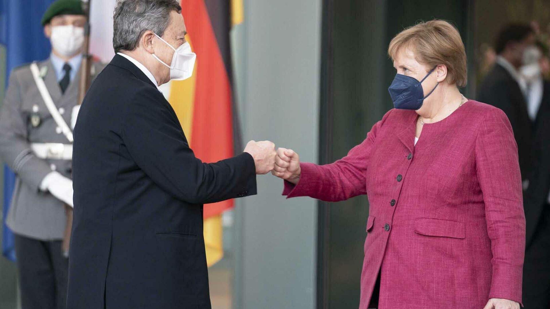 Il Presidente Draghi incontra la Cancelliera Merkel - Sputnik Italia, 1920, 27.09.2021