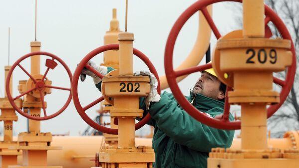 Рабочий на газовом хранилище в Будапеште, Венгрия - Sputnik Italia