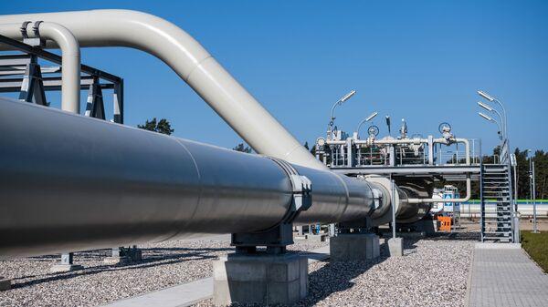 Береговые объекты на территории газораспределительного центра магистрального газопровода Северный поток-2 в городе Любмин, Германия - Sputnik Italia