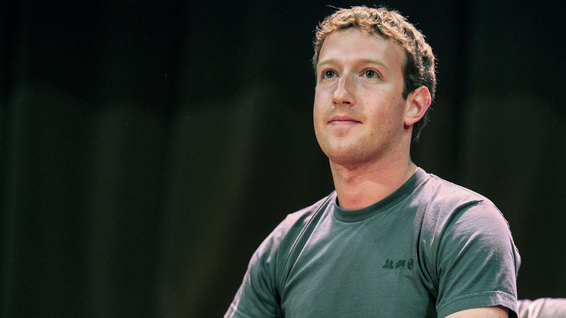 Mark Zuckerberg, amministratore delegato di Facebook - Sputnik Italia, 1920, 07.10.2021