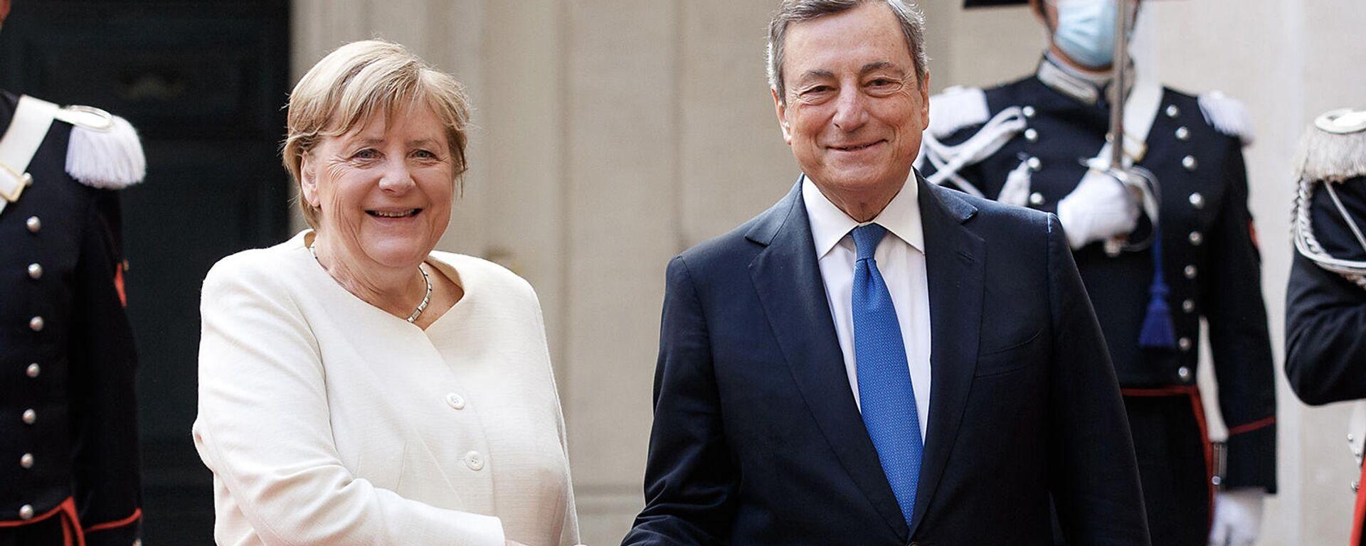 Draghi incontra la Cancelliera Merkel - Sputnik Italia, 1920, 07.10.2021