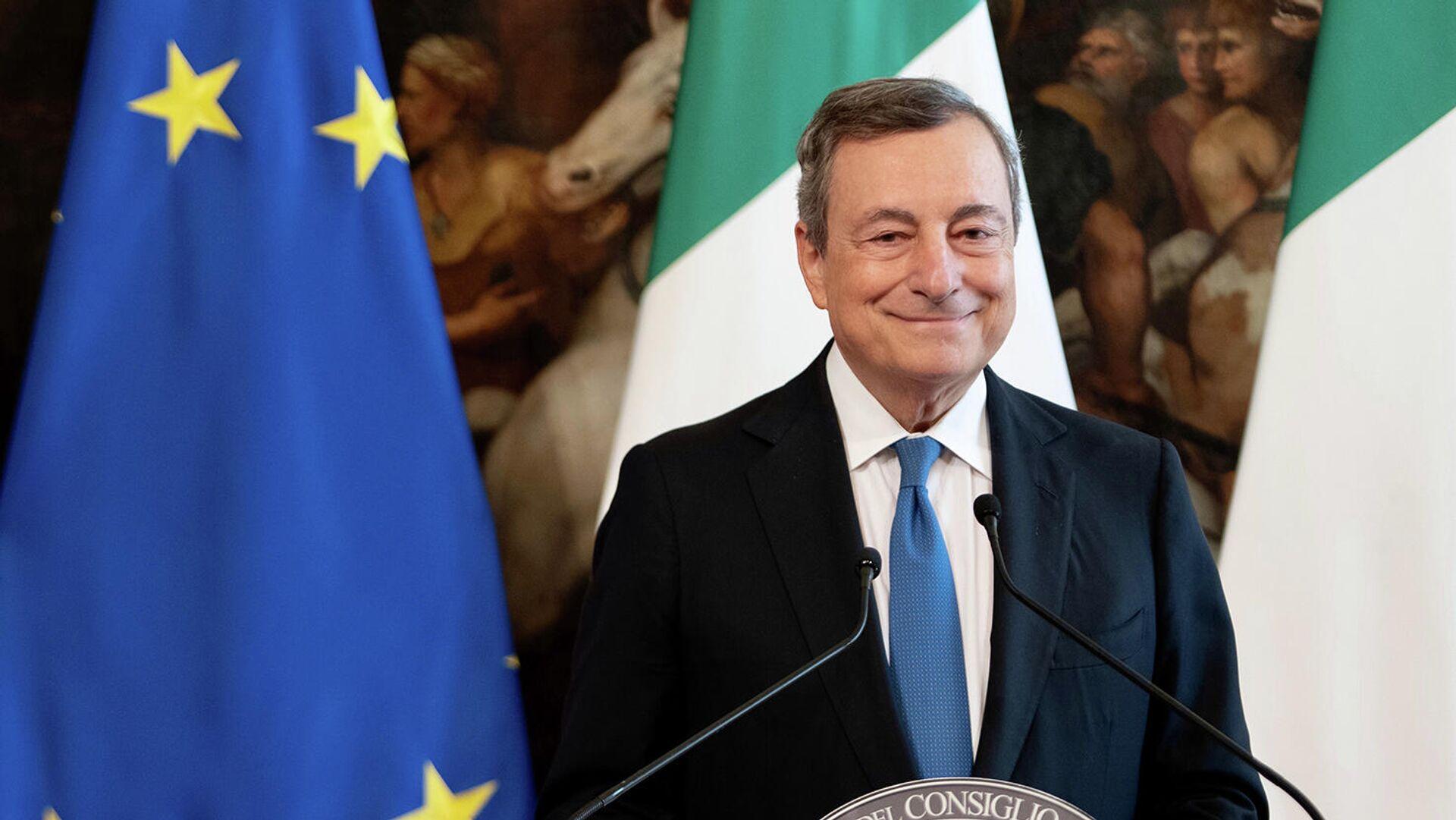 Il Presidente del Consiglio, Mario Draghi - Sputnik Italia, 1920, 13.10.2021