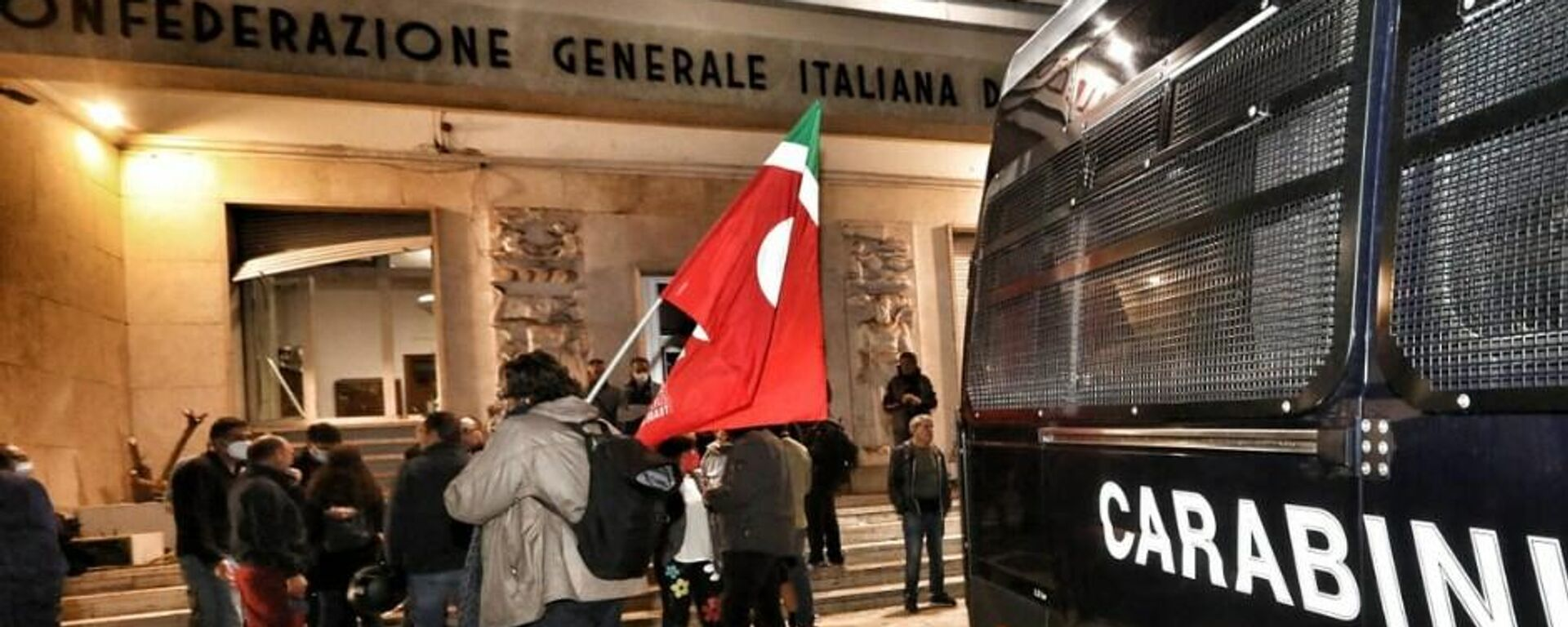 La sede della Cgil a Roma dopo l'assalto dei no green pass - Sputnik Italia, 1920, 09.10.2021