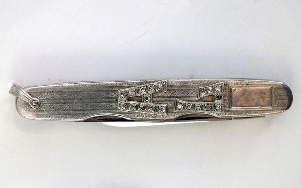 Coltellino tascabile con iniziali in platino e diamanti, appartenuto ad Al Capne - Sputnik Italia