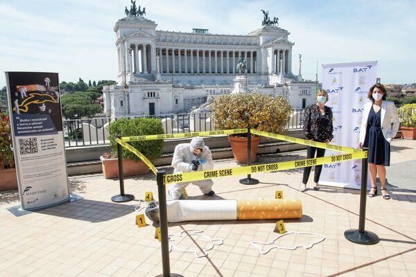 """La campagna contro i mozziconi """"Piccoli gesti grandi crimini"""" - Sputnik Italia"""