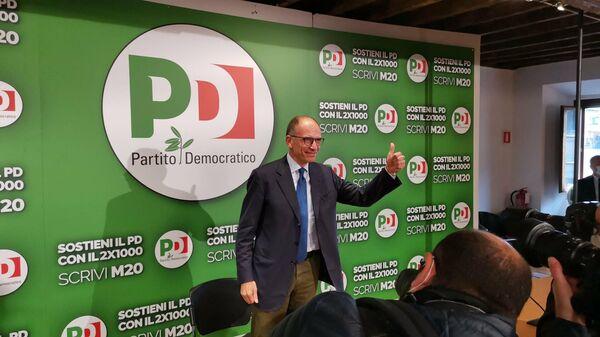 Enrico Letta esulta per il risultato delle amministrative 2021 - Sputnik Italia