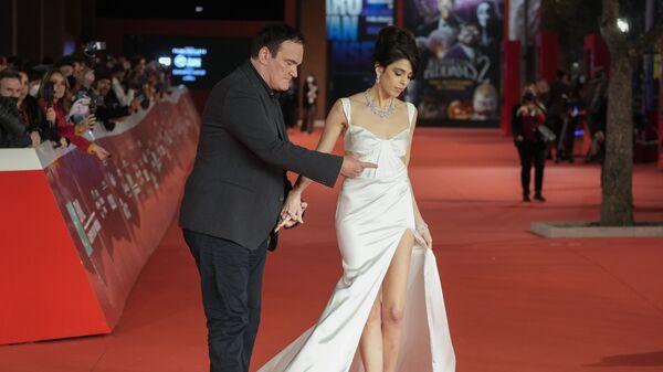Режиссер Квентин Тарантино с супругой Даниэлой Пик на красной дорожке 16-го кинофестиваля Rome Film Fest в Риме, Италия - Sputnik Italia