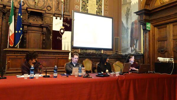 Conferenza sulla guerra in Ucraina a Macerata, partecipanti - Sputnik Italia