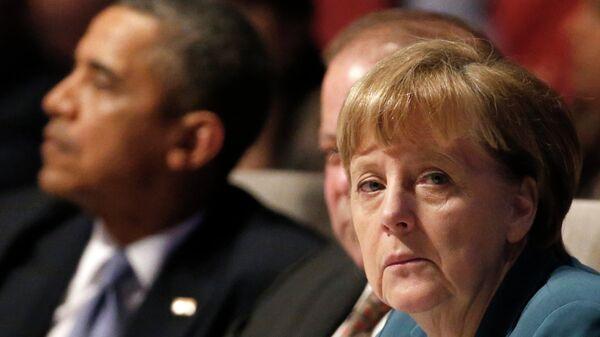 Obama und Merkel telefonieren zu Ukraine-Krise - Sputnik Italia