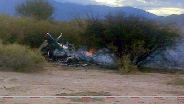 Resti elicottero dopo incidente in Argentina - Sputnik Italia