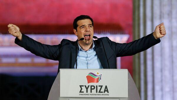 Alexis Tsipras ad un comizio - Sputnik Italia