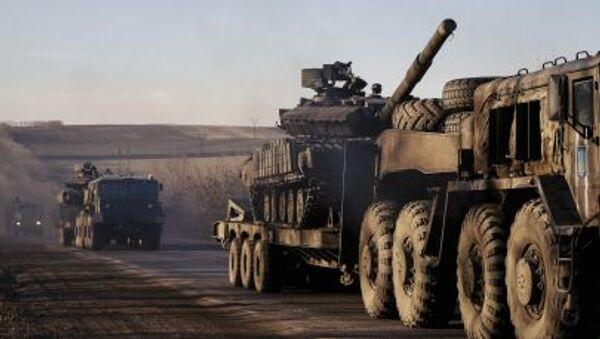 Отвод украинской тяжелой военной техники из Донецкой области - Sputnik Italia